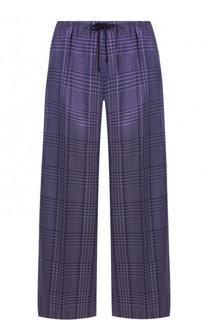 Укороченные брюки с эластичным поясом в клетку Dries Van Noten