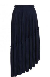 Плиссированная асимметричная юбка-миди Kenzo