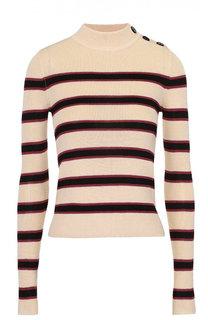 Облегающий пуловер с контрастную полоску Isabel Marant Etoile