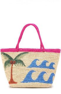 Плетеная сумка с принтом Sensi Studio