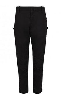 Хлопковые брюки прямого кроя с заниженной линией шага Marcelo Burlon