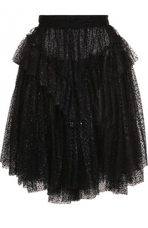 Многоярусная кружевная юбка-миди Dsquared2
