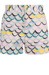 Хлопковые мини-шорты с принтом M Missoni
