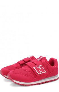 Замшевые кроссовки 373 с текстильной вставкой и застежкой велькро New Balance
