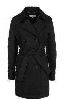Хлопковое двубортное пальто с поясом Escada Sport