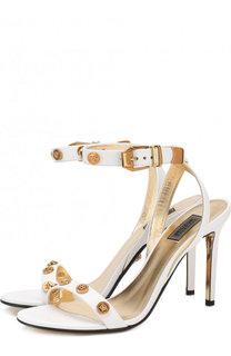 Кожаные босоножки Tribute на шпильке Versace