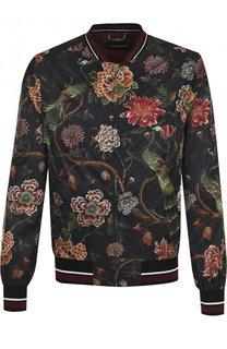 Бомбер на молнии с принтом Dolce & Gabbana