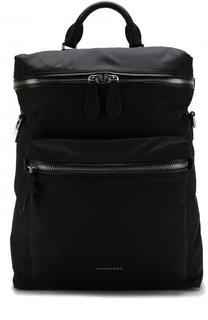 Текстильный рюкзак с внешним карманом на молнии Burberry