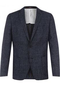 Однобортный пиджак из смеси шерсти и хлопка со льном Windsor