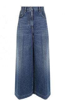 Укороченные расклешенные джинсы с потертостями Dolce & Gabbana