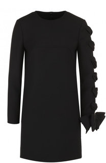 Приталенное мини-платье со шнуровкой и бантом Valentino