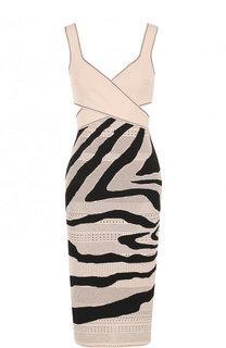 Вязаное платье-футляр из вискозы Roberto Cavalli