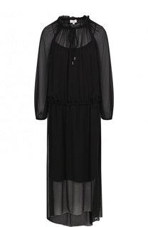 Приталенное платье-миди с длинным рукавом Escada Sport