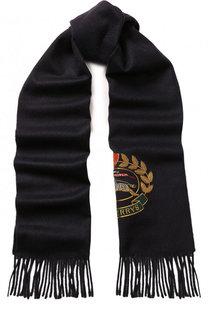 Кашемировый шарф с вышивкой и бахромой Burberry