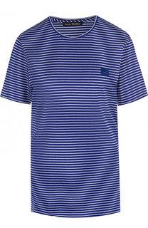 Хлопковая футболка в полоску с круглым вырезом Acne Studios