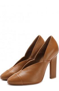 Кожаные туфли Lucie на устойчивом каблуке Victoria Beckham