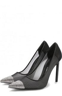Текстильные туфли Mesh на шпильке Tom Ford