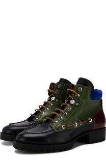 Высокие кожаные ботинки Bad Scout на шнуровке Dsquared2