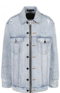 Удлиненная джинсовая куртка свободного кроя Denim X Alexander Wang