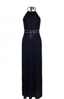 Приталенное хлопковое платье-макси Tommy Hilfiger