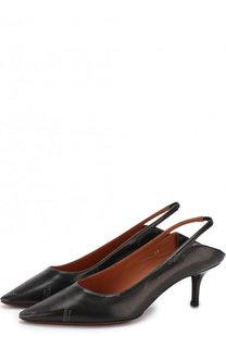 Кожаные туфли на каблуке kitten heel Vetements