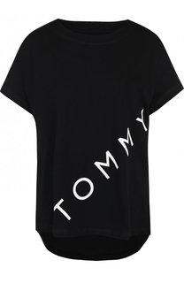 Хлопковая футболка свободного кроя с круглым вырезом Tommy Hilfiger