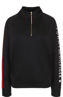 Хлопковый свитер с воротником на молнии Tommy Hilfiger