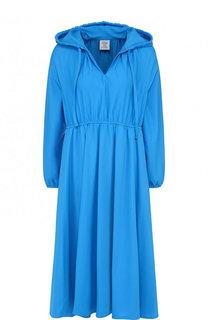 Однотонное приталенное платье с капюшоном Vetements