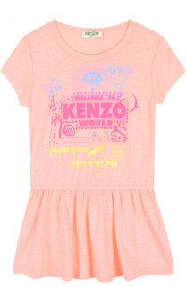 Мини-платье джерси с принтом Kenzo