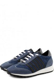 Комбинированные кроссовки New Runner Hiking на шнуровке Dsquared2
