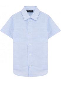 Рубашка из смеси хлопка и льна Dal Lago