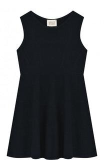 Приталенное мини-платье джерси Armani Junior