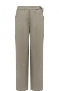 Однотонные льняные брюки с карманами Emporio Armani