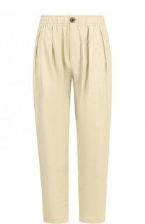 Укороченные хлопковые брюки с эластичным поясом 5PREVIEW