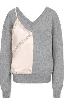 Пуловер из смеси шерсти и кашемира с контрастной отделкой Alexander Wang