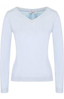 Пуловер с V-образным вырезом и кружевной спинкой Blugirl