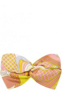 Шелковая повязка с принтом Emilio Pucci