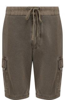 Хлопковые шорты с накладными карманами James Perse