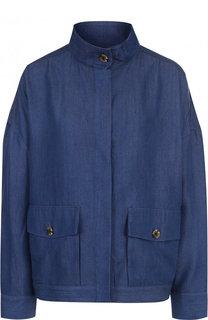 Куртка свободного кроя с воротником-стойкой 5PREVIEW