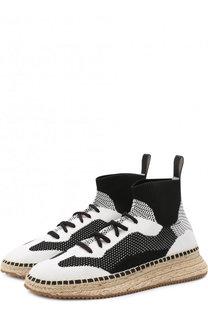 Текстильные кроссовки на джутовой подошве Alexander Wang