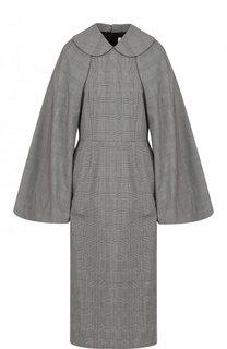 Приталенное шерстяное платье-миди Comme des Garcons