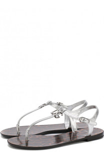 Сандалии из металлизированной кожи Dolce & Gabbana