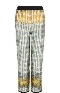 Укороченные шелковые брюки с принтом Forte_forte