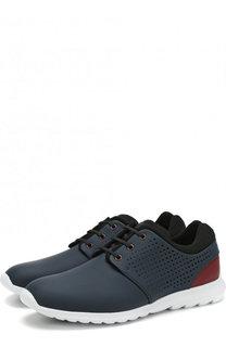 Кожаные кроссовки на шнуровке Z Zegna