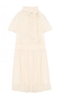 Кружевное платье с воротником аскот Missoni