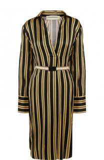 Мини-платье из вискозы с поясом By Malene Birger