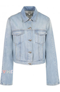 Джинсовая куртка свободного кроя с потертостями Frame Denim
