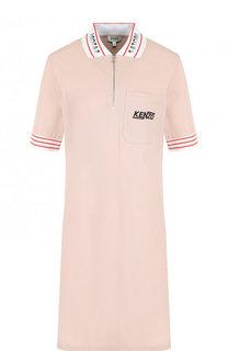 Хлопковое платье-поло с контрастной отделкой Kenzo