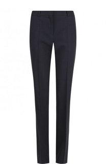 Укороченные шерстяные брюки прямого кроя BOSS