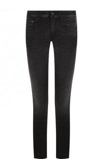 Укороченные джинсы-скинни с потертостями R13